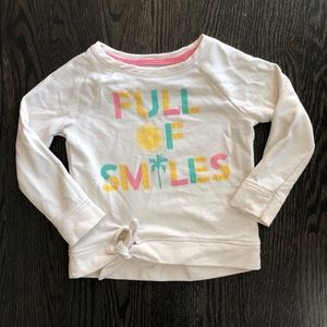 Full of smiles pullover sweater